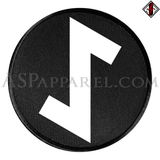Eihwaz Rune Circular Patch-satanic-clothing-heathen-merchandise-by-ASP Culture