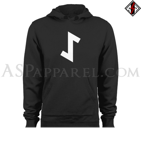 Eihwaz Rune Hooded Sweatshirt (Hoodie)-satanic-clothing-heathen-merchandise-by-ASP Culture