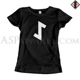 Eihwaz Rune Ladies' T-Shirt-satanic-clothing-heathen-merchandise-by-ASP Culture