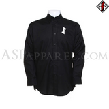 Eihwaz Rune Long Sleeved Shirt-satanic-clothing-heathen-merchandise-by-ASP Culture