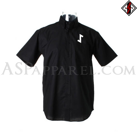 Eihwaz Rune Short Sleeved Shirt-satanic-clothing-heathen-merchandise-by-ASP Culture
