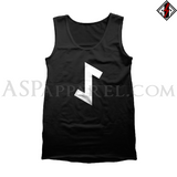 Eihwaz Rune Tank Top-satanic-clothing-heathen-merchandise-by-ASP Culture