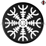 Helm of Awe (Aegishjalmur) Circular Patch-satanic-clothing-heathen-merchandise-by-ASP Culture