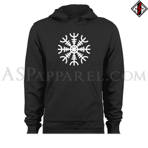 Helm of Awe (Aegishjalmur) Hooded Sweatshirt (Hoodie)-satanic-clothing-heathen-merchandise-by-ASP Culture