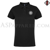 Helm of Awe (Aegishjalmur) Ladies' Polo Shirt-satanic-clothing-heathen-merchandise-by-ASP Culture