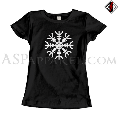 Helm of Awe (Aegishjalmur) Ladies' T-Shirt-satanic-clothing-heathen-merchandise-by-ASP Culture