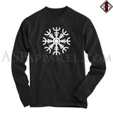 Helm of Awe (Aegishjalmur) Long Sleeved T-Shirt-satanic-clothing-heathen-merchandise-by-ASP Culture