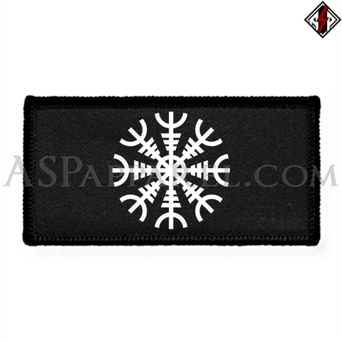 Helm of Awe (Aegishjalmur) Rectangular Patch-satanic-clothing-heathen-merchandise-by-ASP Culture