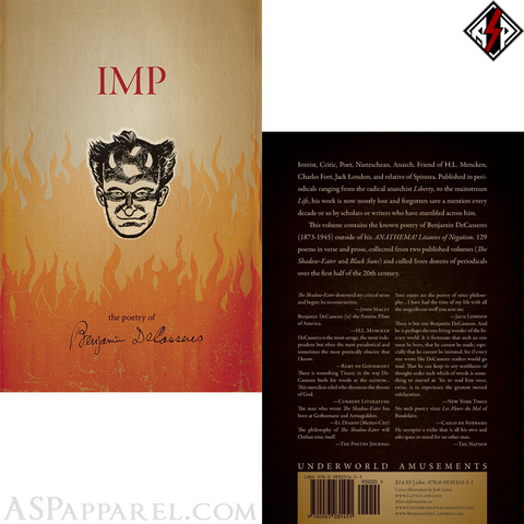 Imp: The Poetry of Benjamin DeCasseres-satanic-clothing-heathen-merchandise-by-ASP Culture