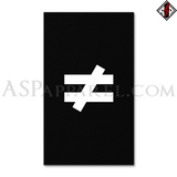 Inequality Symbol Banner Flag (Vertical)-satanic-clothing-heathen-merchandise-by-ASP Culture