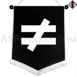 Inequality Symbol Chevron Pennant-satanic-clothing-heathen-merchandise-by-ASP Culture