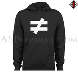 Inequality Symbol Hooded Sweatshirt (Hoodie)-satanic-clothing-heathen-merchandise-by-ASP Culture