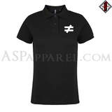 Inequality Symbol Ladies' Polo Shirt-satanic-clothing-heathen-merchandise-by-ASP Culture
