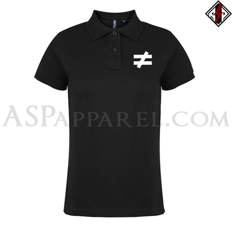 Inequality Symbol Ladies' Polo Shirt