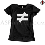 Inequality Symbol Ladies' T-Shirt-satanic-clothing-heathen-merchandise-by-ASP Culture