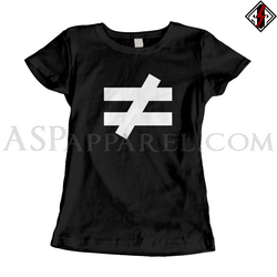 Inequality Symbol Ladies' T-Shirt