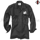 Inequality Symbol Light Military Jacket-satanic-clothing-heathen-merchandise-by-ASP Culture