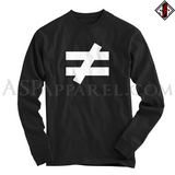 Inequality Symbol Long Sleeved T-Shirt