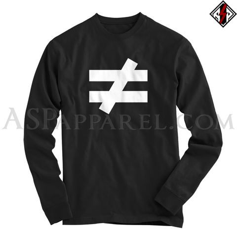Inequality Symbol Long Sleeved T-Shirt-satanic-clothing-heathen-merchandise-by-ASP Culture