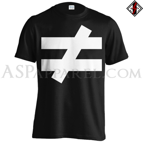 Inequality Symbol T-Shirt - Large Print-satanic-clothing-heathen-merchandise-by-ASP Culture