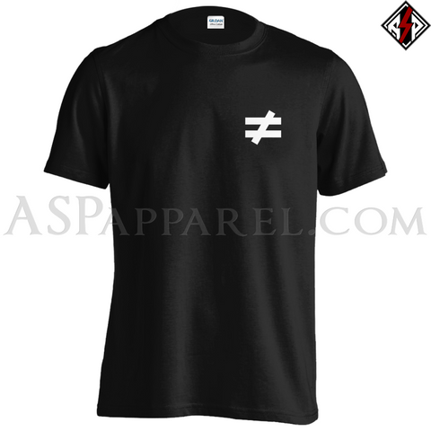 Inequality Symbol T-Shirt - Small Print-satanic-clothing-heathen-merchandise-by-ASP Culture