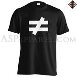Inequality Symbol T-Shirt-satanic-clothing-heathen-merchandise-by-ASP Culture