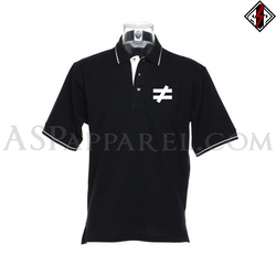 Inequality Symbol Tipped Polo Shirt