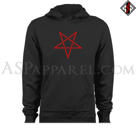 Interwoven Pentagram Hooded Sweatshirt (Hoodie)-satanic-clothing-heathen-merchandise-by-ASP Culture