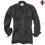 Interwoven Pentagram Long Sleeved Heavy Military Shirt-satanic-clothing-heathen-merchandise-by-ASP Culture