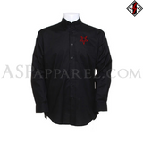 Interwoven Pentagram Long Sleeved Shirt-satanic-clothing-heathen-merchandise-by-ASP Culture