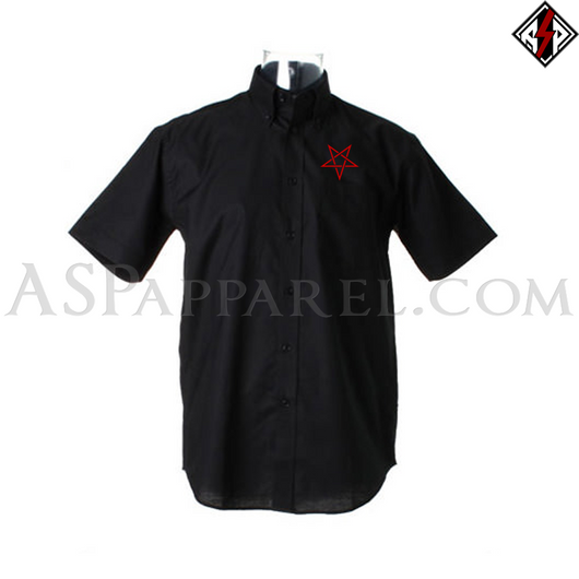 Interwoven Pentagram Short Sleeved Shirt