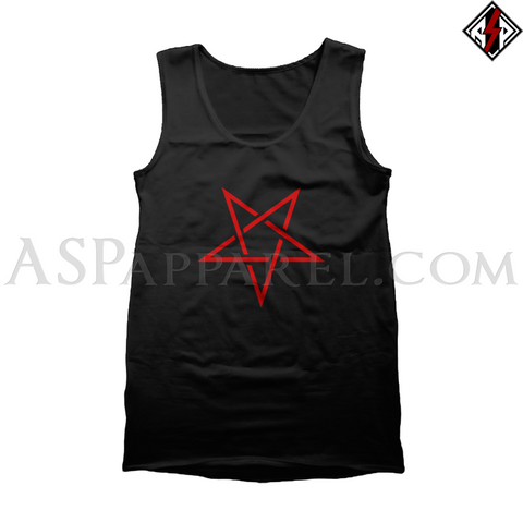 Interwoven Pentagram Tank Top-satanic-clothing-heathen-merchandise-by-ASP Culture
