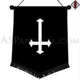 Inverted Cross Chevron Pennant-satanic-clothing-heathen-merchandise-by-ASP Culture
