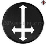Inverted Cross Circular Patch-satanic-clothing-heathen-merchandise-by-ASP Culture