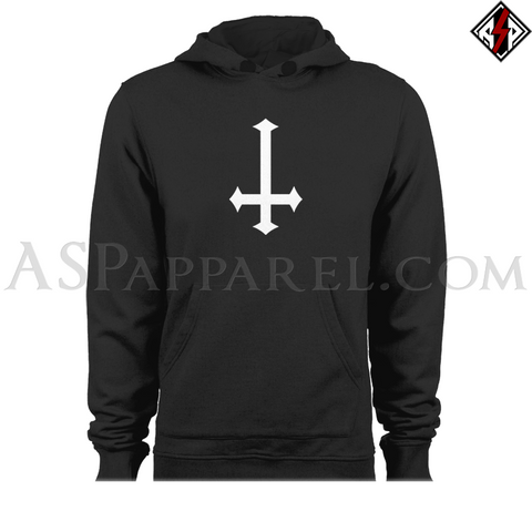 Inverted Cross Hooded Sweatshirt (Hoodie)-satanic-clothing-heathen-merchandise-by-ASP Culture