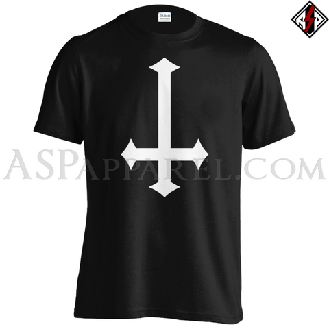Inverted Cross T-Shirt - Large Print-satanic-clothing-heathen-merchandise-by-ASP Culture