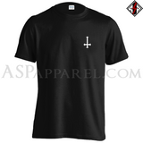 Inverted Cross T-Shirt - Small Print-satanic-clothing-heathen-merchandise-by-ASP Culture