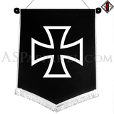 Iron Cross Chevron Pennant-satanic-clothing-heathen-merchandise-by-ASP Culture