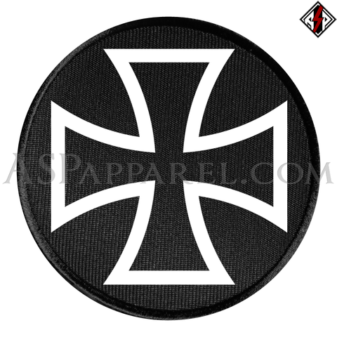 Iron Cross Circular Patch-satanic-clothing-heathen-merchandise-by-ASP Culture