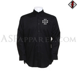 Iron Cross Long Sleeved Shirt-satanic-clothing-heathen-merchandise-by-ASP Culture