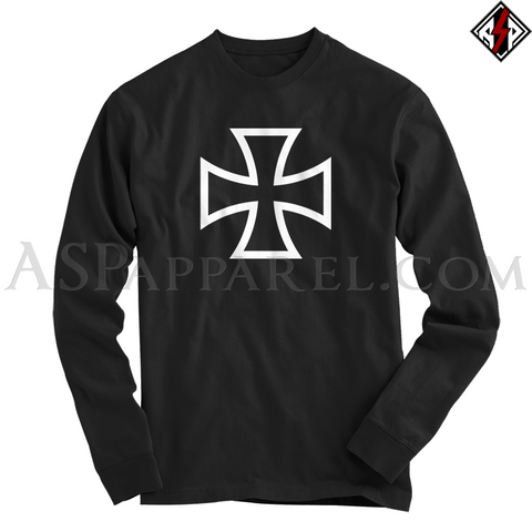 Iron Cross Long Sleeved T-Shirt-satanic-clothing-heathen-merchandise-by-ASP Culture