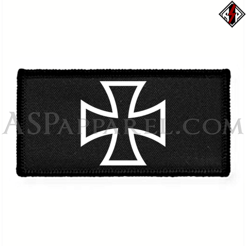 Iron Cross Rectangular Patch-satanic-clothing-heathen-merchandise-by-ASP Culture