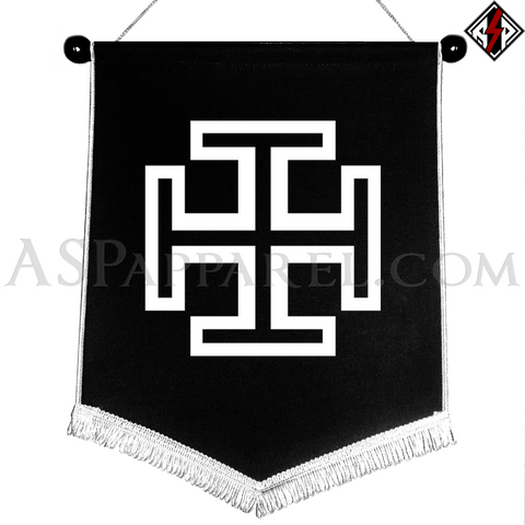 Kruckenkreuz (Cross Potent) Chevron Pennant-satanic-clothing-heathen-merchandise-by-ASP Culture