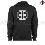 Kruckenkreuz (Cross Potent) Hooded Sweatshirt (Hoodie)-satanic-clothing-heathen-merchandise-by-ASP Culture