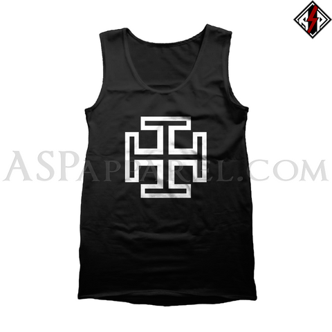Kruckenkreuz (Cross Potent) Tank Top-satanic-clothing-heathen-merchandise-by-ASP Culture