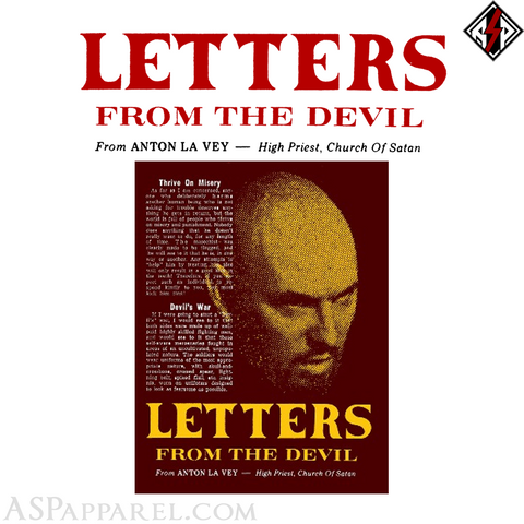 Letters From the Devil: The Lost Writing of Anton Szandor LaVey-satanic-clothing-heathen-merchandise-by-ASP Culture