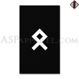 Odal Rune Banner Flag (Vertical)-satanic-clothing-heathen-merchandise-by-ASP Culture