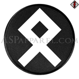 Odal Rune Circular Patch-satanic-clothing-heathen-merchandise-by-ASP Culture