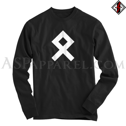 Odal Rune Long Sleeved T-Shirt-satanic-clothing-heathen-merchandise-by-ASP Culture