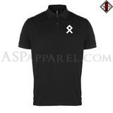 Odal Rune Polo Shirt-satanic-clothing-heathen-merchandise-by-ASP Culture